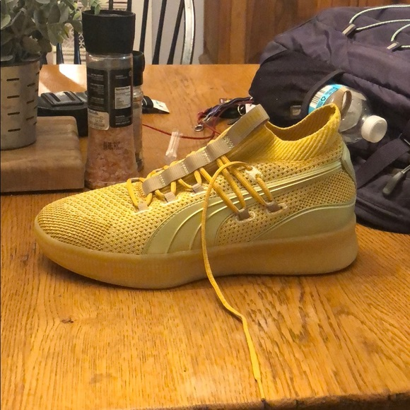 sports shoes 7722f c4373 Puma Clyde Court Title Run Basketball Shoes